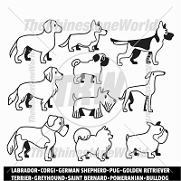 Cartoon Dogs Mini Pack 1